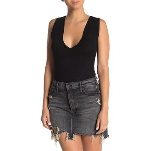 Kendall & Kylie Mesh Stitched Ribbed Bodysuit